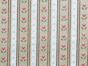 Baumwolle Little One Streifen & Tulpen, beige