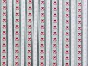 BW Little One Streifen & Tulpen, grau / rot