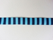 Webband Streifen/Ringel 15mm- marine/hellblau