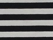 RESTSTÜCK 70 cm Jersey Streifen 1cm - navy/weiß (garngefärbt)