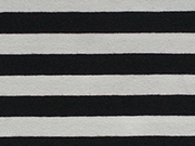 RESTSTÜCK 45 cm Jersey Streifen 1 cm garngefärbt, schwarz weiß