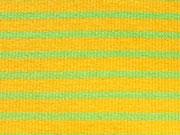 Ringelbündchen, Feinripp - gelb/limette