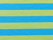 Streifenjersey 1 cm, türkis limette