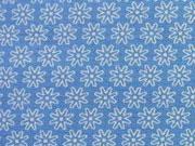 Baumwolle Streublümchen, stahlblau-weiß
