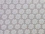 Baumwolle Streublümchen, taupe-weiß
