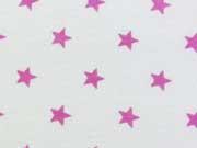 Sweat Sterne 1 cm, hellpink auf weiss