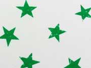 Sweat Sterne 3,5 cm , grün auf weiss