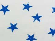 Sweat Sterne 3,5 cm , royalblau auf weiss