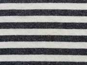 RESTSTÜCK 40 cm French Terry Sweat Streifen 2cm, anthrazit/weiß melange