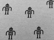 Sweat Roboter - schwarz auf grau melange