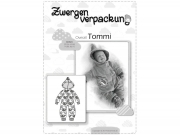 Schnittmuster Zwergenverpackung Tommi Baby Overall Farbenmix