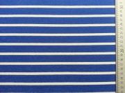 Italienischer Viskose Jersey Allegra Streifen, royalblau-weiß