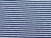 Viskose Ringeljersey 1mm - dunkelblau/weiß