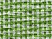 RESTSTÜCK 40 cm Baumwollstoff Vichy Karo 2 mm, hellgrün weiß