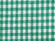 Baumwollstoff Vichy Karo grasgrün-weiss