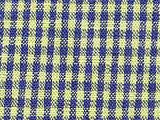 Baumwollstoff Vichy Karo, hellgrün dunkelblau