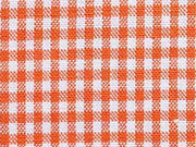 Baumwollstoff Vichy Karo orange weiss