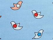 Baumwollstoff Firebirds/Vögel, stahlblau