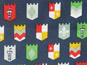 Baumwolle Wappen, dunkelblau
