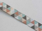 Webband 2cm Dreiecke, bunte Pastellfarben