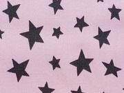 Beschichtete BW versch. Sterne grau auf rosa