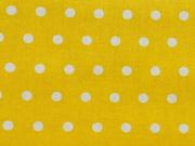 beschichtete Baumwolle Punkte 6mm, weiß gelb