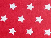 beschichtete BW Sterne 1 cm weiss auf rot