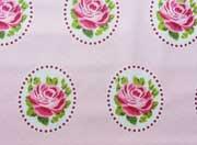beschichtete Baumwolle Rosen Ornamente, rosa