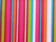 RESTSTÜCK 22 cm beschichtete Baumwolle Streifen-rot/pink