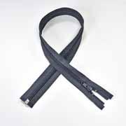 Reißverschluss teilbar 75 cm, dunkelgrau