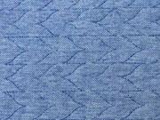 RESTSTÜCK 43 cm gesteppter Jeans