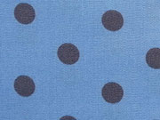 beschichtete Baumwolle Punkte 8mm, grau hellblau