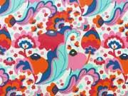 laminierte BW Blumen - rosa/aquamarin